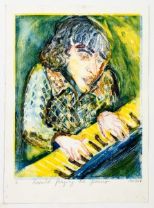 6.Alice Macdonald_Ranald Playing the Piano_ Drypoint and monoprint